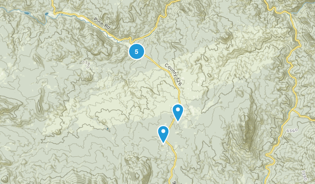 Buffalo Creek, Colorado Nature Trips Map