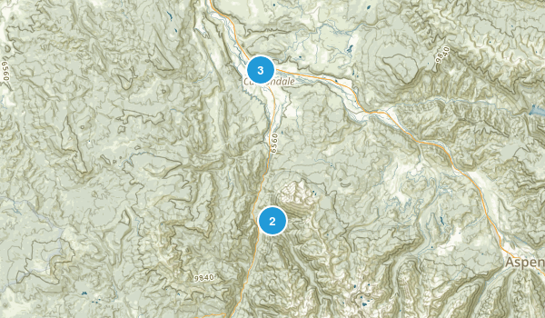Carbondale, Colorado Trail Running Map