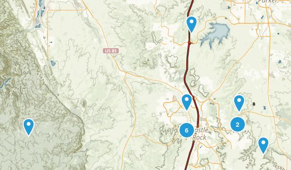 Castle Rock, Colorado Nature Trips Map