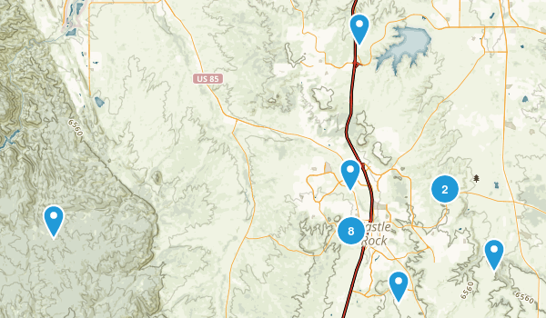 Castle Rock, Colorado Trail Running Map