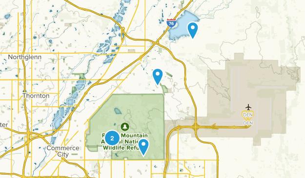 Commerce City, Colorado Walking Map