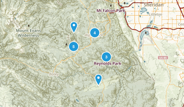 Conifer, Colorado Nature Trips Map