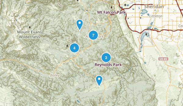 Conifer, Colorado Trail Running Map