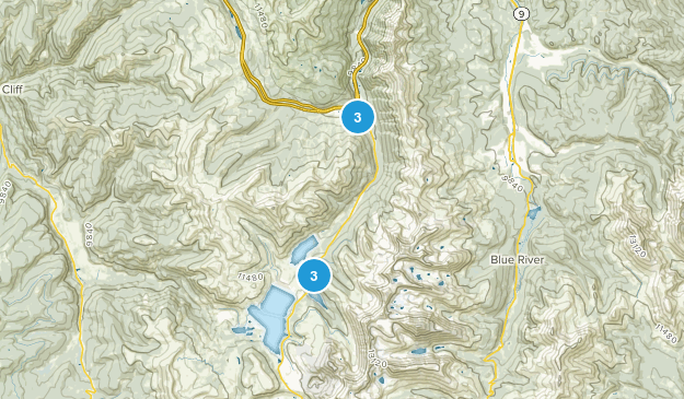 Copper Mountain, Colorado Views Map