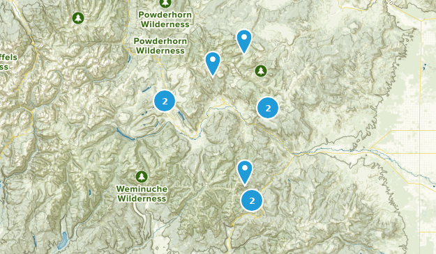 Creede, Colorado Hiking Map