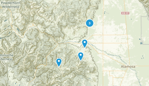 Del Norte, Colorado Hiking Map