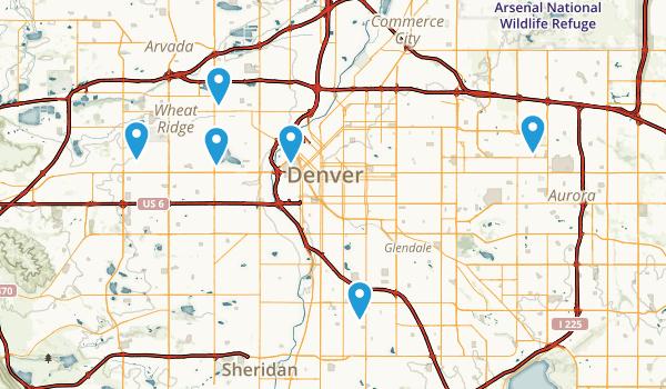 Denver, Colorado Wheelchair Friendly Map