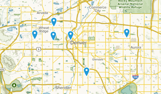 Denver, Colorado Wheelchair Friendly Map