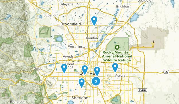 Denver, Colorado Birding Map