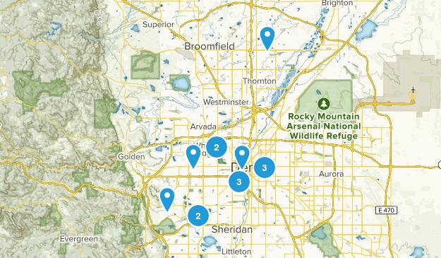 Denver, Colorado Dogs On Leash Map