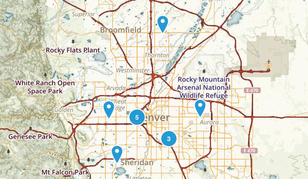 Best Hiking Trails Near Denver Colorado AllTrailscom - Denvor on us map
