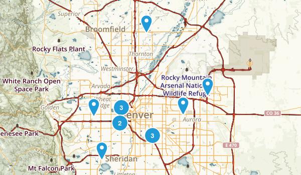 Best Hiking Trails Near Denver Colorado Photos - Denver on a us map