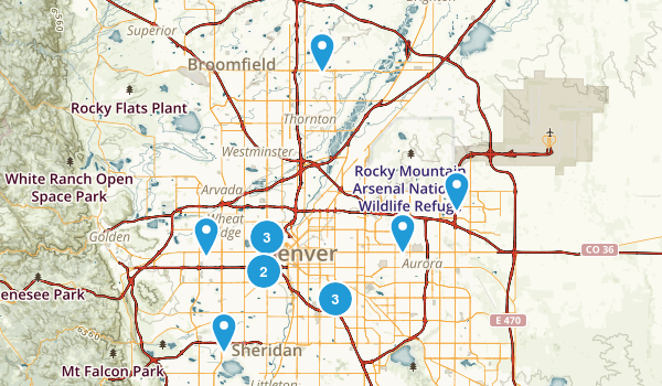 Download Map Us Denver Major Tourist Attractions Maps Denver Map - Map of us hiking trails