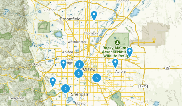 Denver, Colorado Hiking Map