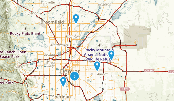Denver, Colorado Nature Trips Map