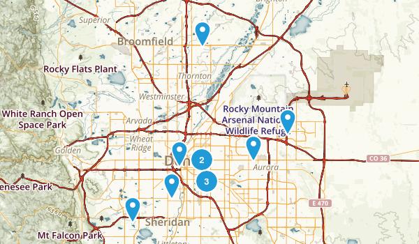 Denver, Colorado Nature Trips Map