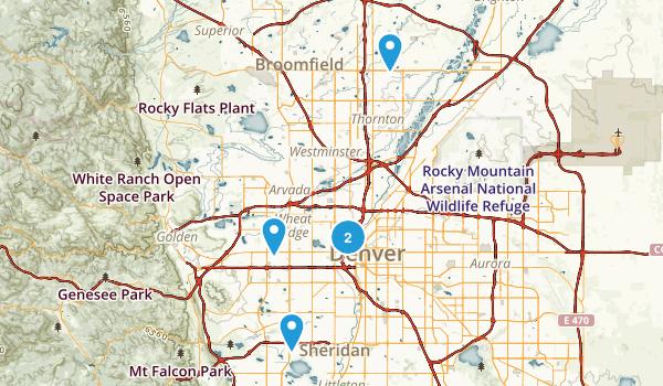 Denver, Colorado Road Biking Map