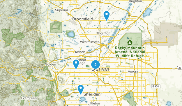Denver, Colorado Road Biking Map
