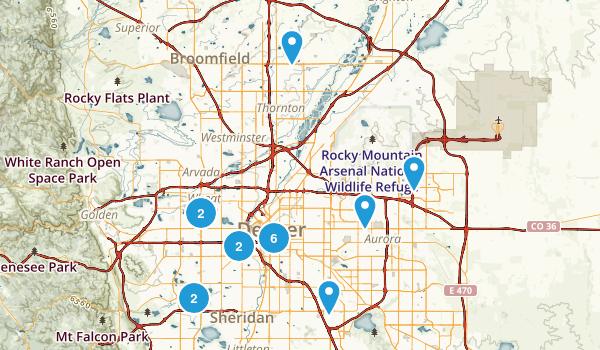 Denver, Colorado Trail Running Map