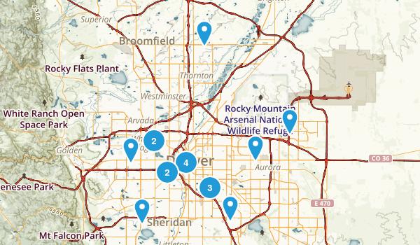 Denver, Colorado Walking Map