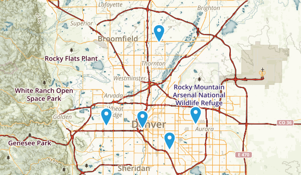 Denver, Colorado Wild Flowers Map