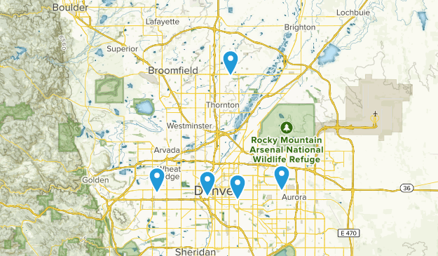 Denver, Colorado Wildlife Map