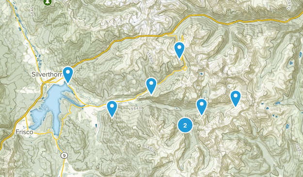Dillon, Colorado Snowshoeing Map