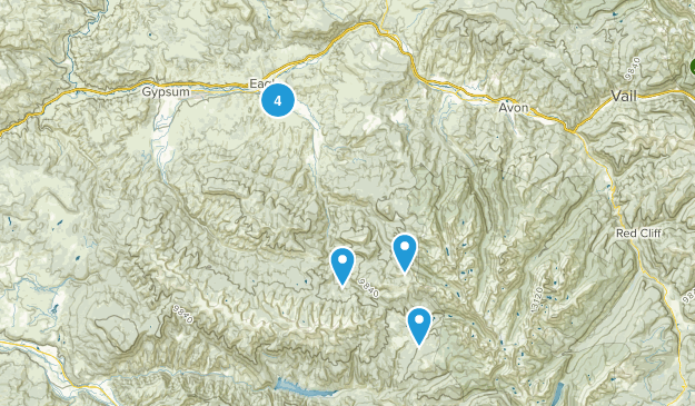 Eagle, Colorado Wild Flowers Map