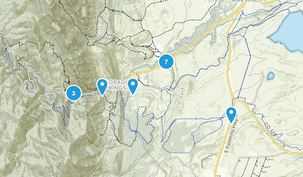 Eldorado Springs, Colorado Hiking Map