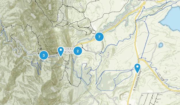Eldorado Springs, Colorado Hiking Map