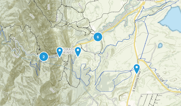 Eldorado Springs, Colorado Nature Trips Map