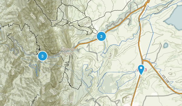 Eldorado Springs, Colorado Trail Running Map