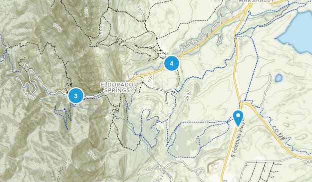 Eldorado Springs, Colorado Trail Running Map