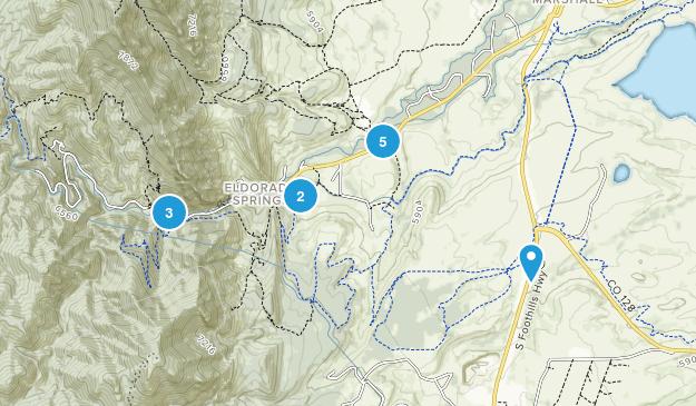 Eldorado Springs, Colorado Wild Flowers Map