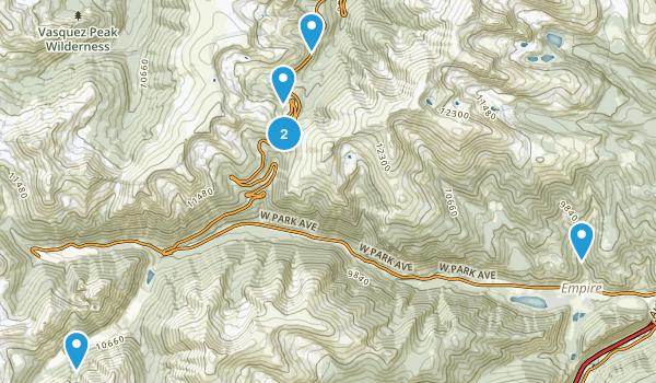 Empire, Colorado Hiking Map