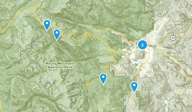 Estes Park, Colorado Wheelchair Friendly Map