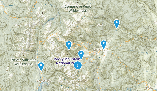 Estes Park, Colorado Backpacking Map