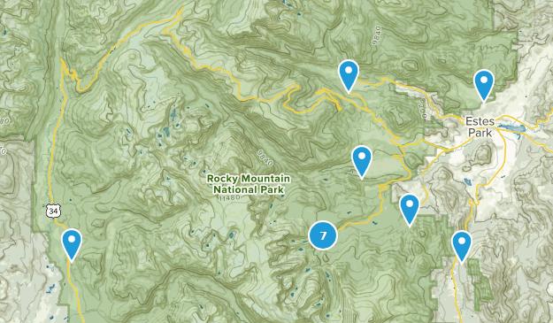 Estes Park, Colorado Camping Map