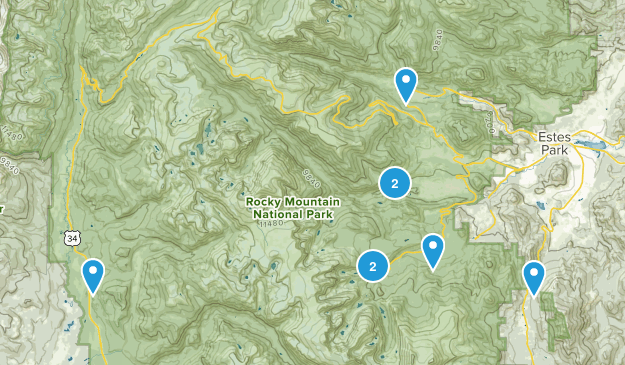 Estes Park, Colorado Fishing Map
