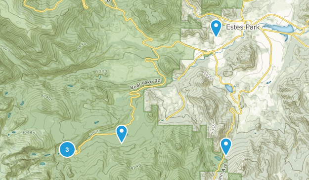 Estes Park, Colorado Rock Climbing Map