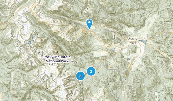 Fall River Estates Subdivision, Colorado Nature Trips Map