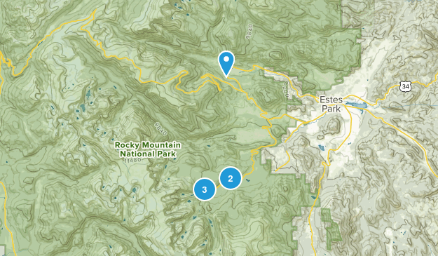 Fall River Estates Subdivision, Colorado Nature Trips Map