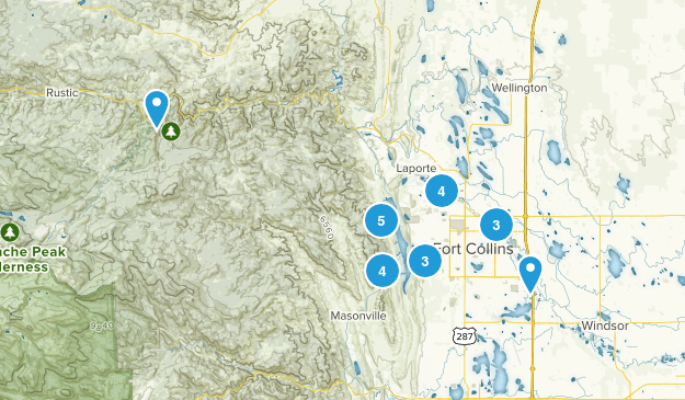 Fort Collins, Colorado Dogs On Leash Map