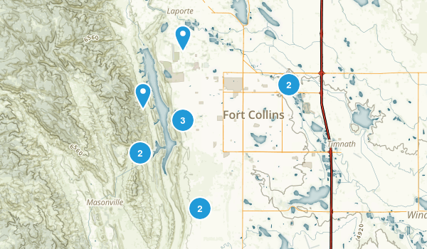 Fort Collins, Colorado Mountain Biking Map
