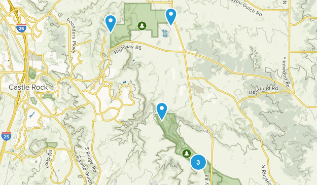 Franktown, Colorado Nature Trips Map