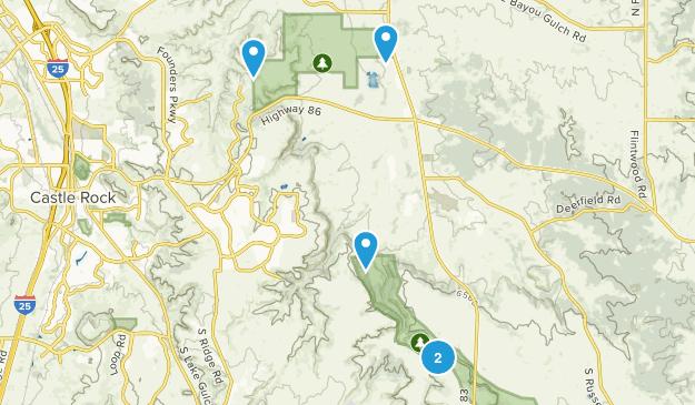 Franktown, Colorado Trail Running Map