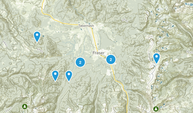 Fraser, Colorado Dogs On Leash Map