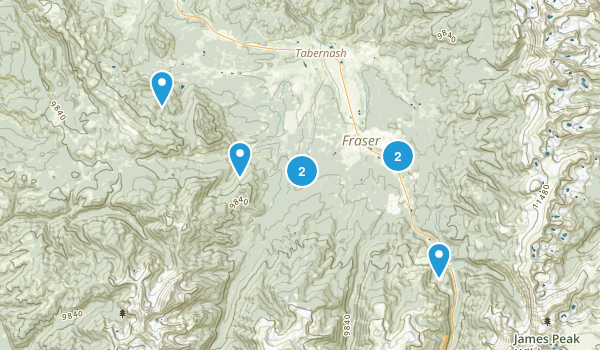 Fraser, Colorado Forest Map