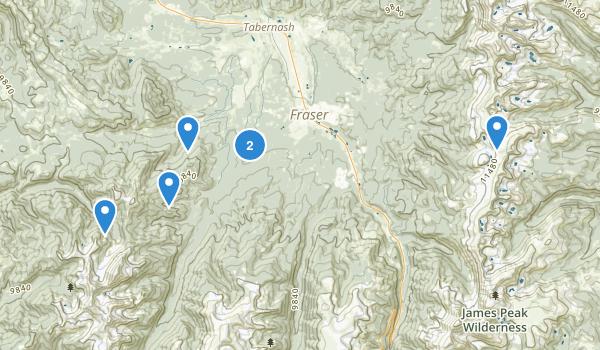 Fraser, Colorado Hiking Map