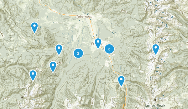Fraser, Colorado Hiking Map